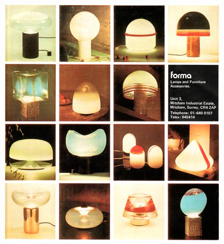 Forma Lamps 1978