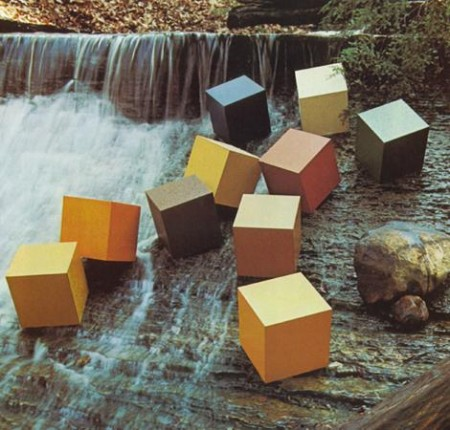 squares on waterfall