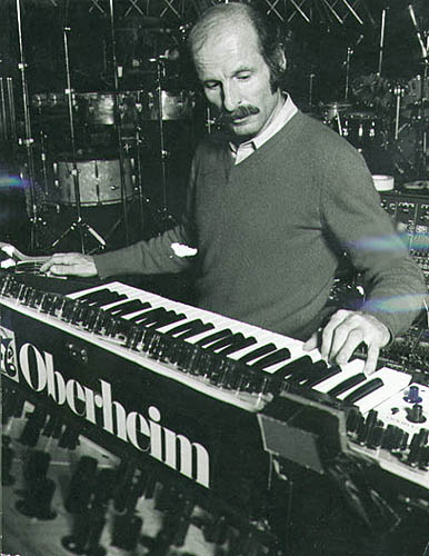 Joe Zawinul (Weather Report) at the Oberheim Four Voice