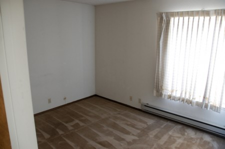 The empty room, ready to be revamped