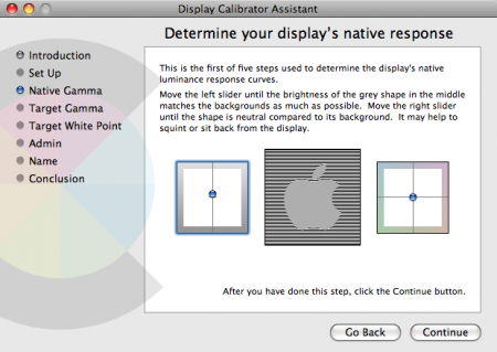 OS X Monitor Calibration Tool