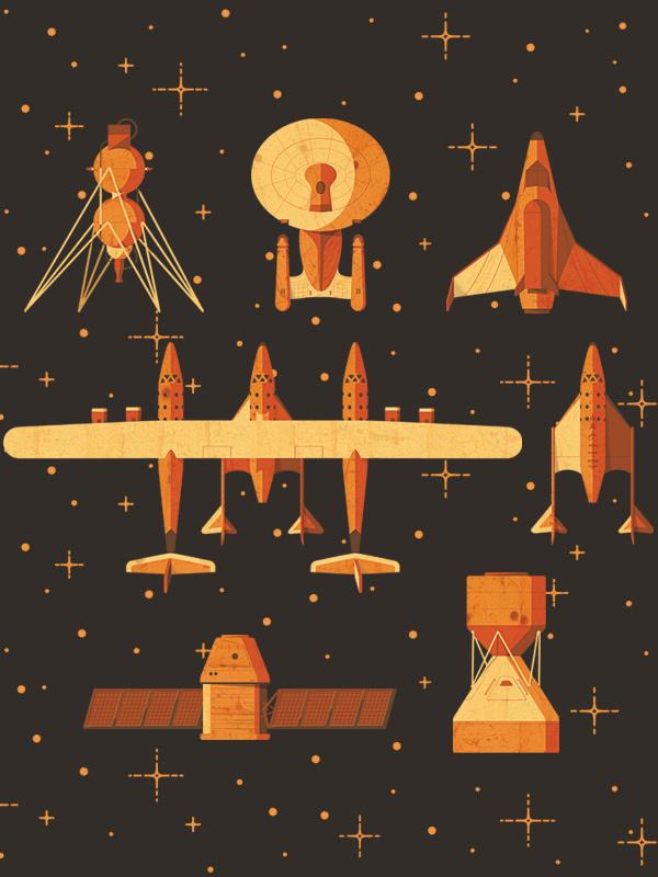 Space Jam Illustrations » ISO50 Blog – The Blog of Scott Hansen