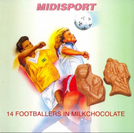 midisport - 14 footballers in milk chocolate