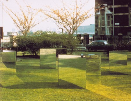 By Robert Morris, Mirror Cubes, 1965